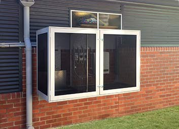 Unique solutions for Invisi-Gard security screens